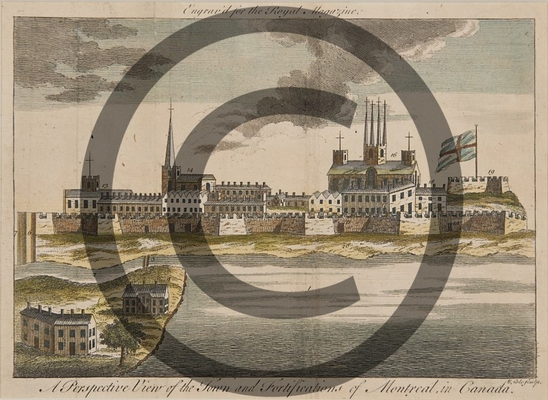C. Lewis -- A Perspective View of the Town and Fortifications of Montreal