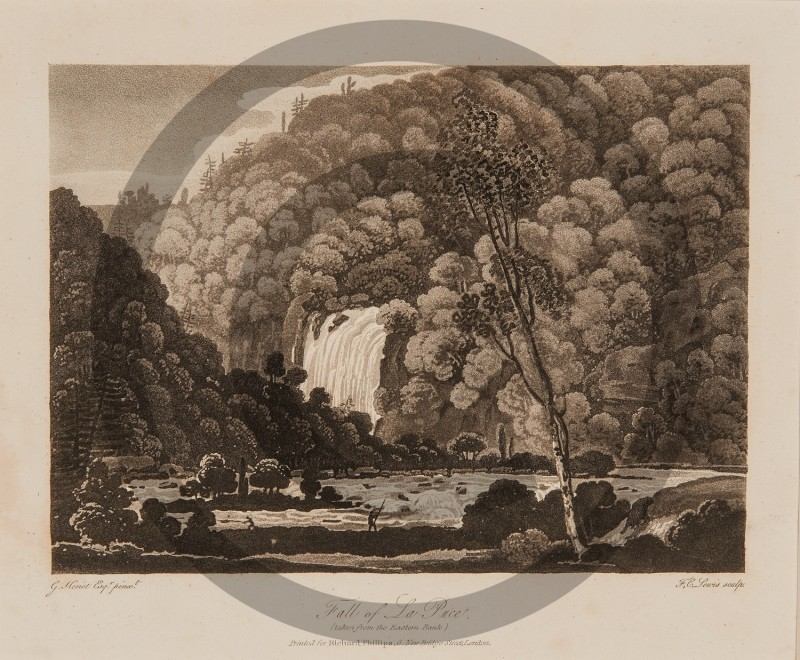 George Heriot -- Fall of La Puce taken from the Eastern Bank