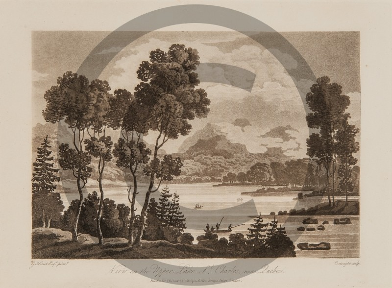 George Heriot -- View on the Upper Lake St Charles near Quebec