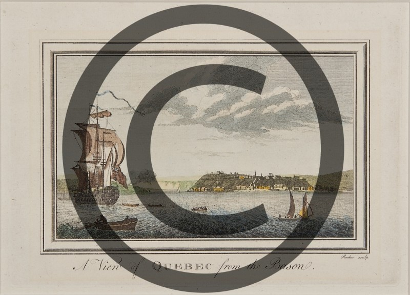 Francis Swaine after Capt. Hervey Smyth-- A View of Quebec from the Bason