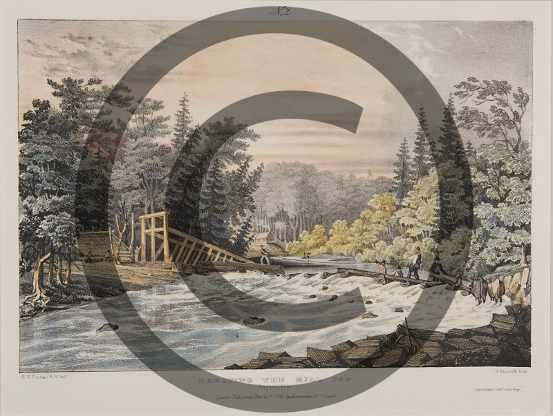 E.N. KENDALL-- ERECTING THE MILL DAM, AUGUST, 1834