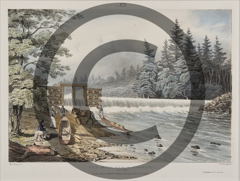 W.P. KAY -- THE MILL DAM AT STANLEY, OCT, 1834