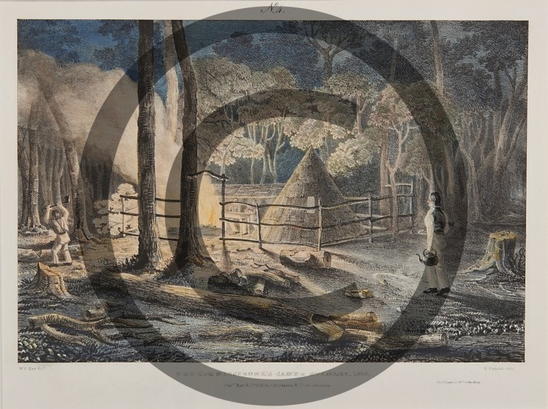 W.P. KAY -- THE COMMISSIONERS CAMP AT STANLEY, 1835