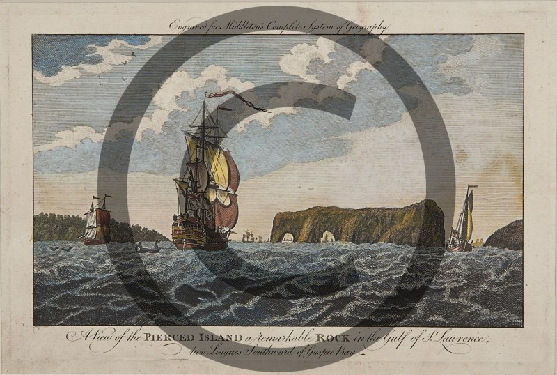 Capt Hervey Smyth -- A View of the Pierced Island in the Gulf of St. Lawrence